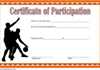 Basketball Participation Certificate Template 1