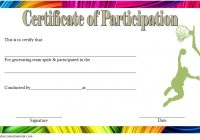 Basketball Participation Certificate Template 5
