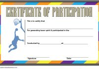 Basketball Participation Certificate Template 6