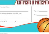 Basketball Participation Certificate Template 7