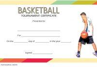 Basketball Tournament Certificate Template 1