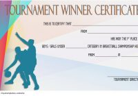 Basketball Tournament Certificate Template 10