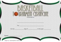Basketball Tournament Certificate Template 2