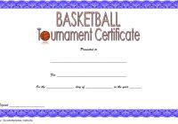 Basketball Tournament Certificate Template 4