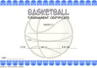 Basketball Tournament Certificate Template 5