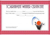 Basketball Tournament Certificate Template 7