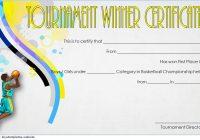 Basketball Tournament Certificate Template 8