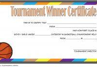 Basketball Tournament Certificate Template 9