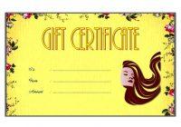 Beauty Salon Gift Certificate 1