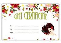 Beauty Salon Gift Certificate 2