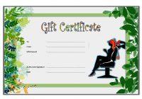 Beauty Salon Gift Certificate 3