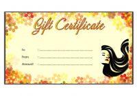 Beauty Salon Gift Certificate