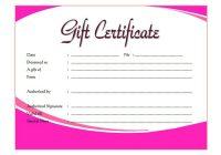 Beauty Salon Gift Certificate 5