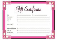 Beauty Salon Gift Certificate 6