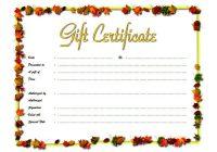 Beauty Salon Gift Certificate 7