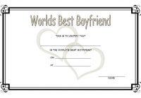Best Boyfriend Certificate Template 4