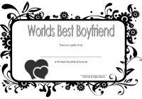 Best Boyfriend Certificate Template 6