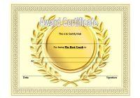 Best Coach Certificate Template 2