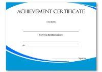 Best Coach Certificate Template 4