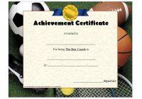 Best Coach Certificate Template 6