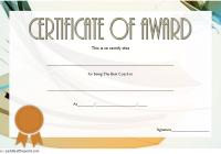 Best Coach Certificate Template 8