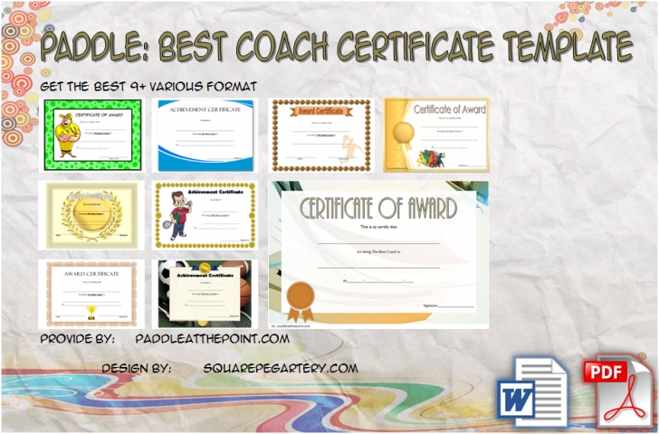 Permalink to Best Coach Certificate Template – 9+ Superb Designs