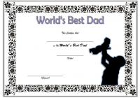 Best Dad Certificate Template 1