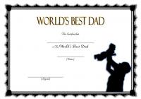 Best Dad Certificate Template 10