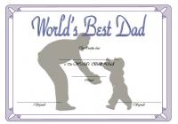 Best Dad Certificate Template 2