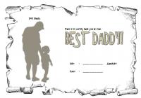 Best Dad Certificate Template 3