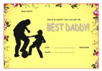 Best Dad Certificate Template 4