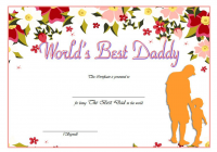 Best Dad Certificate Template 5