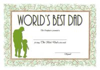 Best Dad Certificate Template 6