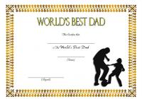 Best Dad Certificate Template 8