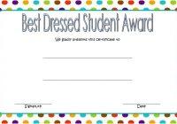 Best Dressed Certificate Template 1