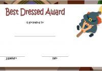 Best Dressed Certificate Template 3