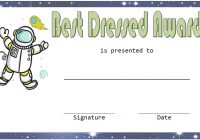 Best Dressed Certificate Template 5
