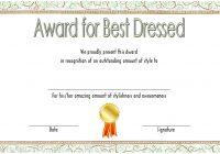 Best Dressed Certificate Template 6