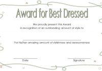 Best Dressed Certificate Template 7