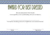 Best Dressed Certificate Template 8