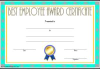 Best Employee Certificate Template 3