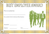 Best Employee Certificate Template 8