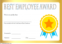 Best Employee Certificate Template 9