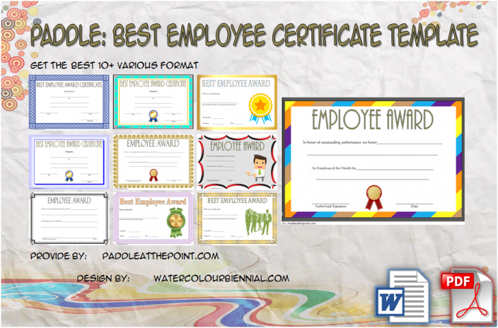 Permalink to Best Employee Certificate Template – 10+ Freshest Designs