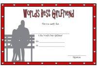 Best Girlfriend Certificate Template 1