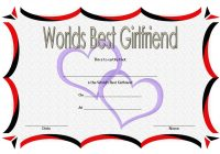 Best Girlfriend Certificate Template 5