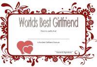 Best Girlfriend Certificate Template 6