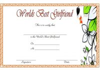 Best Girlfriend Certificate Template 7