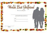 Best Girlfriend Certificate Template 8