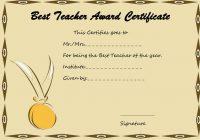 Best Teacher Certificate Template 1